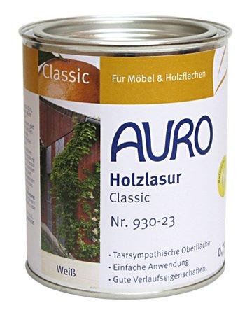 Lasure Blanc Bois Exterieur - AURO Lasure aux huiles, Classic - no.