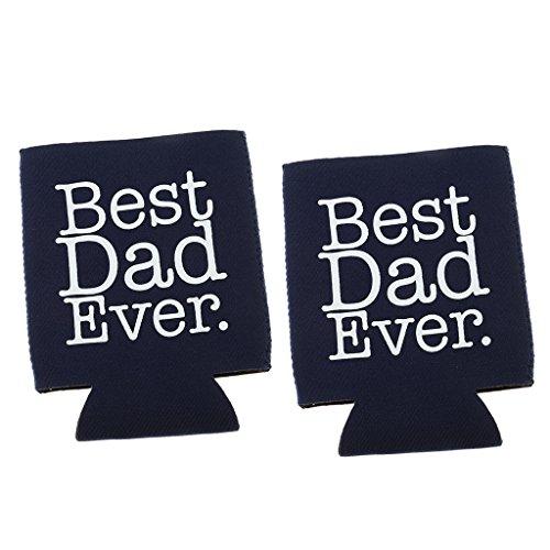 Blesiya BEST DAD EVER Neopren Dosenkühler Flaschenkühler Kühler Getränkekühler Kühltasche -