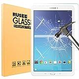 Samsung Galaxy Tab E 9.6 Protection d'écran, Rusee Samsung Galaxy Tab E 9.6 Protecteur d'écran Film en verre trempé Film Vitre [Haute Définition] [Sans bulle] [9H Dureté] Pour Samsung Galaxy Tab E 9.6-Inch Tablet (SM-T560, SM-T561, SM-T565)