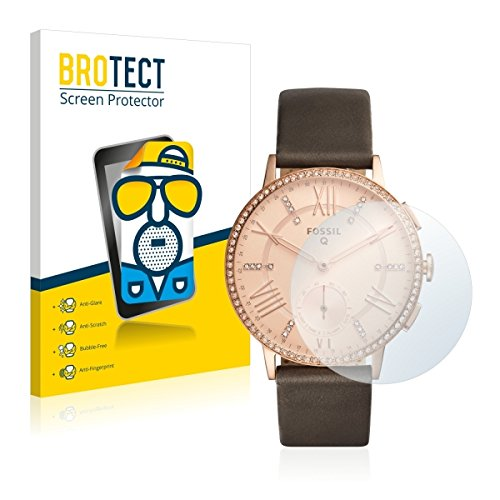 2X BROTECT Matt Bildschirmschutz Schutzfolie für Fossil Q Gazer (matt - entspiegelt, Kratzfest, schmutzabweisend)