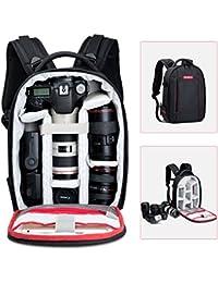 Beschoi - Mochila para Cámara Réflex y Accesorios, Mochila Viaje Impermeable para Canon Nikon Sony