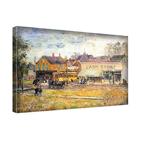 Hassam End Of The Tram Oak Park Illinois, Stampa Artistica su Canvas Quadro su Tela Immagine su Telaio Canvas Moderni. Dimensioni