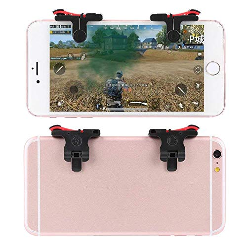 Gadgets WRAP Mobile Phone Gamepad Gaming Trigger for pubg ROS Fire Shooter Controller Button Aim Key L1 R1 (Red)
