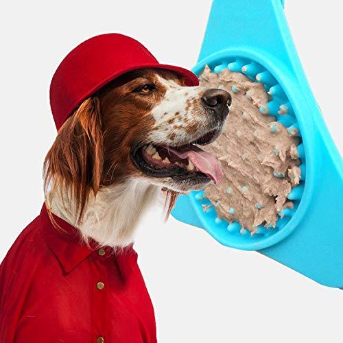 PURROMM Hund lecken Pad Food Grade Silikon Hund Bad Buddy Geschenk für Hund mit Saugnäpfen einfach zum Baden Pflegezeit Saugnapf Slow Food Schüssel -