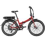 Legend Siena Bicicleta Eléctrica Plegable Urbana Smart eBike Ruedas de 24 Pulgadas, Frenos de Disco Hidráulicos, Batería 36V 10.4Ah Sanyo-Panasonic (374.4Wh), Rojo Strawberry
