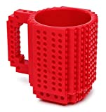 THINKGEEK BUILD ON BRICK - TAZZA COLORE ROSSO