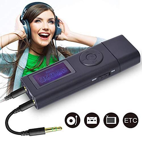 DIGITNOW! Music Dizitizer-Record Analog-Digital in USB-Treiber oder SD-Karte und Wiedergabe, tragbarer digitaler USB-Audio-Grabber und MP3-Player mit U-Disk-Multifunktions-3-in-1-Recorder (Record Player-recorder)