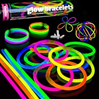 100 Glow Sticks Party Pack Premium Glowhouse Glow Stick Bracelets (Mixed) - UK Brand