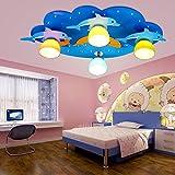 Kinder Lampe Schlafzimmer Lampe LED Deckenleuchte Jungen und Mädchen Delphin Schlafzimmer Lampe mediterrane Zimmer Lampe Augenschutz Lampe