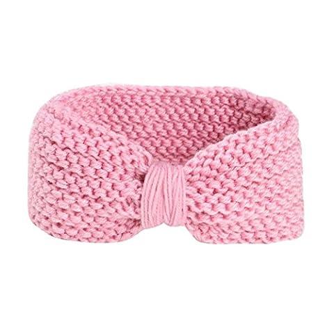 KanLin Baby Stirnband, Säugling Mädchen Boys Patchwork Farbe Knoten Stirnband Accessories (Pink)