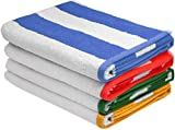 Strandtücher Cabana Stripe (4 Stück, mehrfarbig) - Waschmaschinenfest - sehr saugfähig handtuch von Utopia Towel