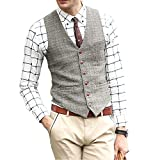 Zicac denim uomo del panciotto della maglia gilet uomo alla moda … (EU L (Asia XXXL), Crema)