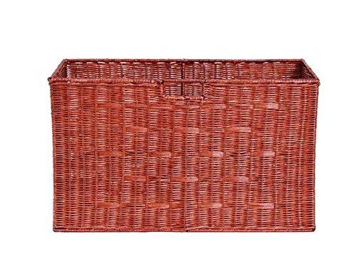 GAO® Mülleimer Rechteck Bambus und Rattan Weben Körbe Lagerung Korb Trümmer Finishing Körbe Haushalt Aufbewahrungsbox Spezifikationen 54 * 29 * 32cm brown (Rattan Körbe Weben)