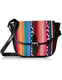Kanvas Katha Women's Sling Bag (Multicolor)