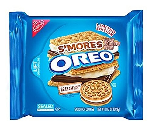 Nabisco, Oreo, Limited Edition, Smores (Made with Graham Flavored Cookie Chocolate/Marshmallow Flavored Creme), 10.7oz