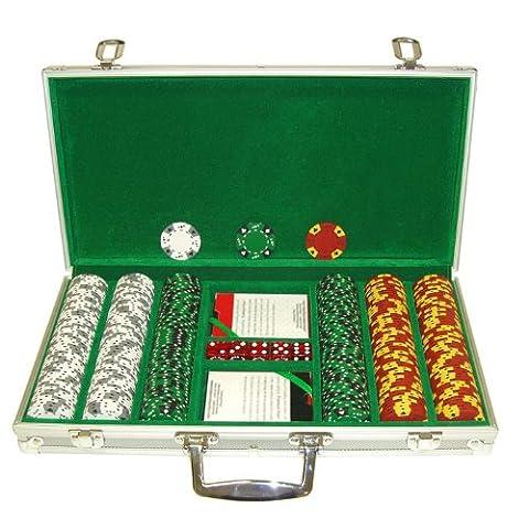 Markenzeichen 30014g Tri Color Ace/King geeignet Chips in Aluminium Fall (Silber) (Sammler Casino Chips)