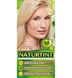 Naturtint Coloration capillaire naturelle permanente - Ingrédients végétaux actifs - 100% couvrant - Couleur 10N Blond aube