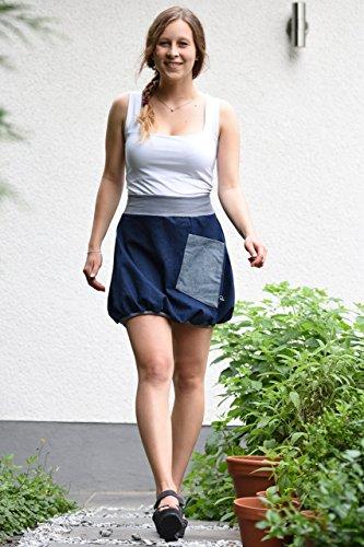 Minirock PAULIZ – blauer Damen Ballon-Minirock aus Jeans - 3
