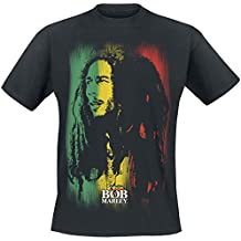 Bob Marley Stare Paint Stripe T-Shirt schwarz