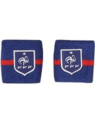 2 x poignet éponge FFF - Collection officielle Equipe de France de Football - Taille unique
