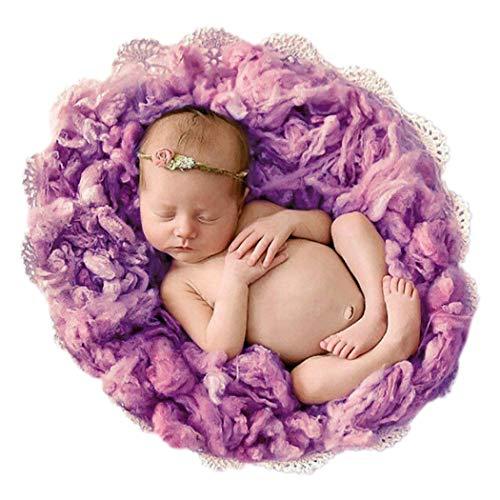 Justdolife Baby Foto Decken Wollwarme Weiche Baby Fotografie Stütze
