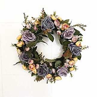 Liveinu-Knstlicher-Kranz-Blumen-Trkranz-Frhlingskranz-Girlanden-Fr-Haus-und-Hochzeit-Hortensienkranz-Wandkranz-Tischkranz-Wanddeko