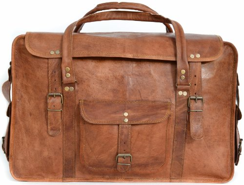 """Gusti Cuir nature """"Kai"""" bagage à main en cuir sac de voyage sac bandoulière bagage cabine sac de sport sac en cuir véritable et naturel voyages affaires marron R41b"""