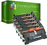 Printing Pleasure 5 Compatibles CF281A 81A Cartouches de Toner pour HP Laserjet Enterprise MFP M630dn M630f M630h M630z M604dn M604n M605dn M605x M606dn M606x - Noir, Grande Capacité (10.500 Pages)