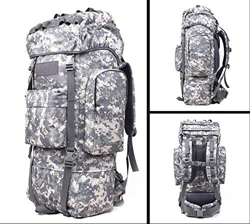 Morral im Freien Wandern Reisetasche 100L Große Kapazität Freizeit Reisen Taschen Sport Taschen-Rucksack für Männer und Frauen zu Fuß Acu Camouflage