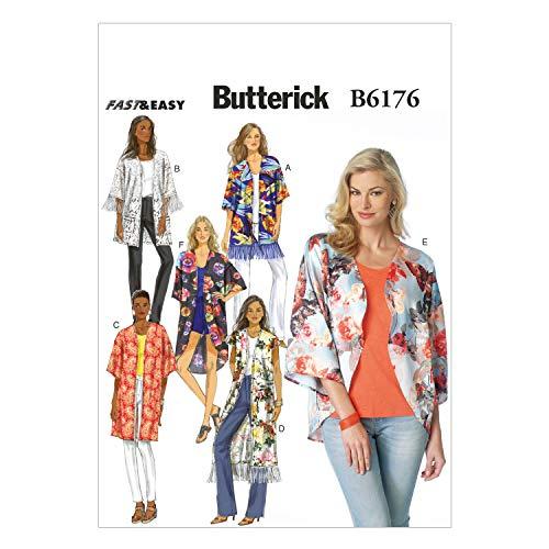 Butterick Motif 6176 Y Taille XS 4–6/Petit 8–10/Medium 12–14 Patrons Kimono