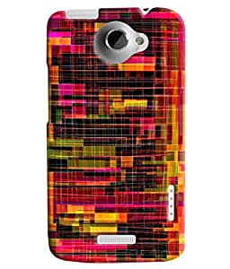 Blue Throat Confusing Pattern Printed Designer Back Cover/ Case For HTC One X