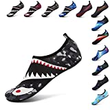 Zapatos de Agua Playa Barefoot Piscina Yoga Surf Water Beach Aqua Shoes Zapatos de Buceo Descalzos Transpirable Suave Cómodo Tiburón Gris 40/41