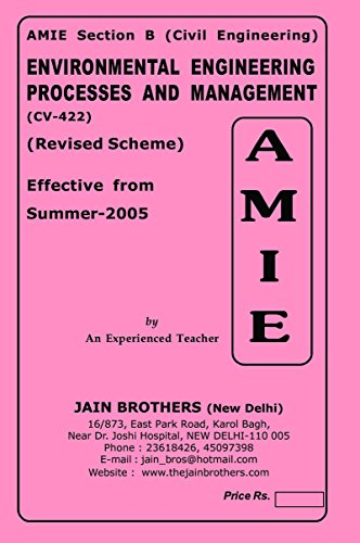 AMIE Environmental Engg Process and Management CV-422 Solved Paper