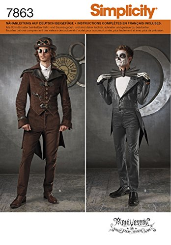 Deguisement Kostüm Homme - Burda Simplicity s7863. BB Schnittmuster Kostüm Herren Papier weiß 21x 15cm