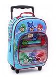 Trolley LES PYJAMASQUES sac à dos à roulette PJ MASKS complet avec fournitures scolaire