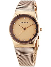 Bering Time Damen-Armbanduhr XS Analog Quarz Edelstahl beschichtet 12927-366