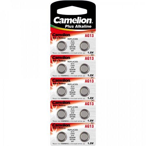 10x piles bouton AG13A76LR44357GP76A SR44W Camelion