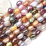 Sweet & Happy Girl's store 6-7mm Freeform-Mix Farbe Perlen-Strang 15 Zoll Schmuckherstellung Perlen
