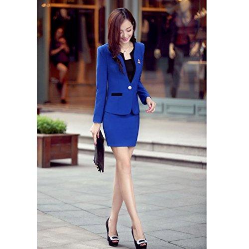 Belsen - Tailleur-robe - Femme multicolore Rouge chiné Taille L Bleu Marine