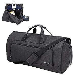 CANWAY Reisetasche Anzugtasche Tragbar Kleidersack Anzughülle Kleidertasche mit Schuhfach Schultergurt 60L Business Flug…