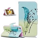 Coque Huawei Honor 5A,Coque Huawei Y6 II,PU Portefeuille Folio Flip Wallet Coque Etui...
