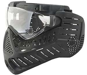 AIRSOFT PAINTBALL ventilateur électrique masque noir avec LED torche S'ADAPTE SUR UN LUNETTES