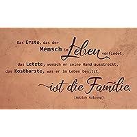 Wandtattoo-Wandaufkleber Spruch/Zitat ***...das Kostbarste ist die Familie...*** Größe und Farbe frei wählbar!