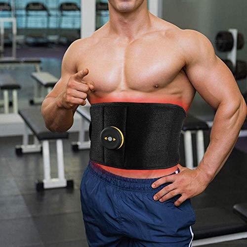 Ksruee Intelligente EMS Bauchtraining, Wireless EMS Muskeltrainings Gürtel, Bauchmuskel-Gürtel, Strafft die Bauchmuskeln, Muskelaufbau & Fettabbau - Body-Shaping für alle/Männer & Frauen
