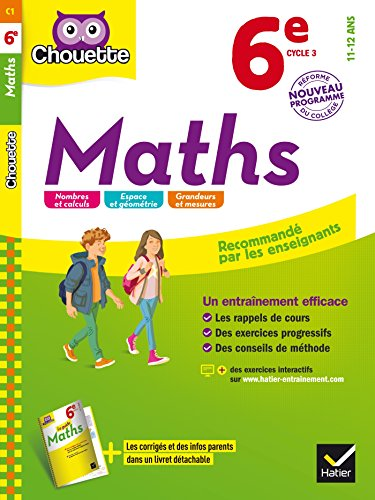 Maths 6e: cahier d'entraînement et de révision par Gérard Bonnefond