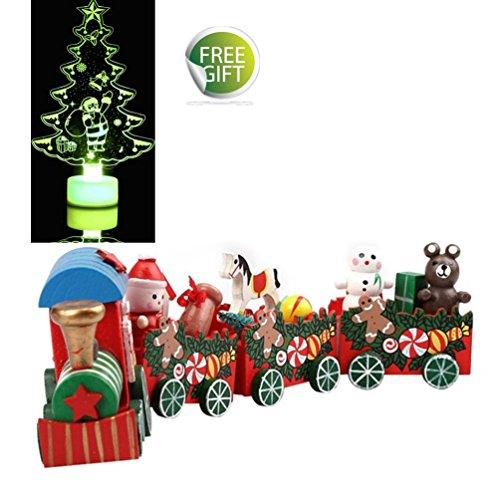 Decoration-de-table-noel-Koly-mini-Train-en-bois-de-Nol-Cadeau-pour-enfant-jouet-pour-enfant-et-dcor--la-maison-B