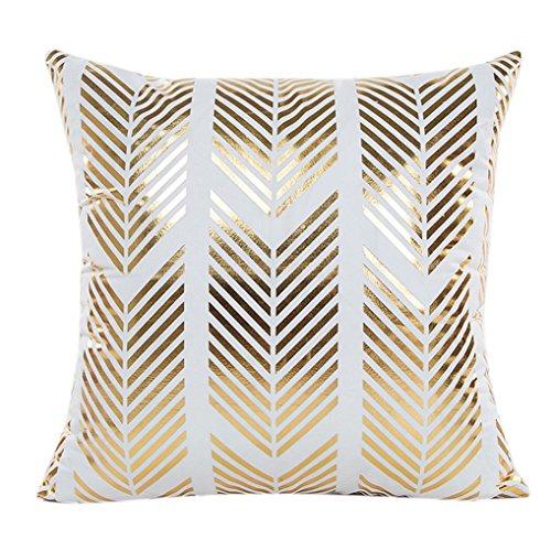 Kissenbezug Xinan Gold Folie Druck Kissen Case Sofa Kissen Cover Home Decor 45*45 (45*45, D) B