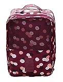 iSuperb Borsa Scarpe Beauty Case Borsa Toilette da Viaggio Calzature Organizzatore Impermeabile Shoe Bag 29×21.5×13cm (Rosso)