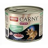 6 x Animonda Cat Dose Carny Kitten Huhn & Kaninchen 200g, Nassfutter, Katzenfutter