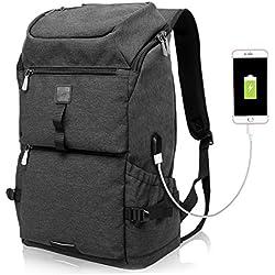 Business Laptop-Rucksack mit USB-Anschluss, wasserabweisend |35L - schwarz